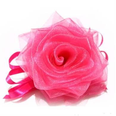 Своими руками розы из органзы
