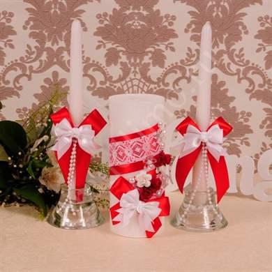 Семейный очаг на свадьбу красный