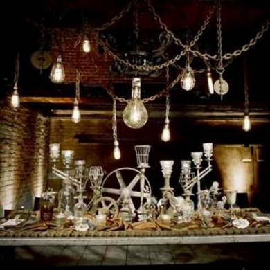 Steampunk party decor