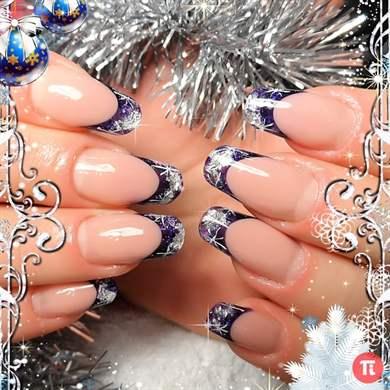 Фото дизайна новогодних ногтей 2017 новинки