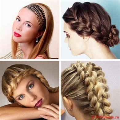 Прически на средние волосы плетение колоском