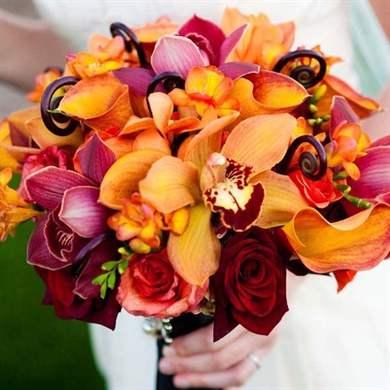 Осенние свадебные букеты своими руками: фото инструкция