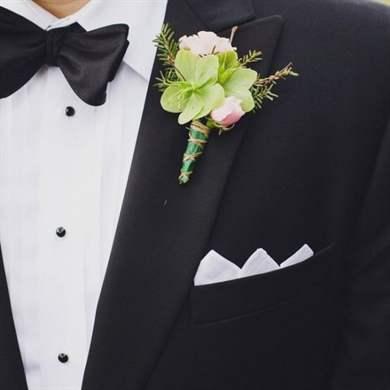 Бутоньерка для жениха своими руками: мастер-класс с фото