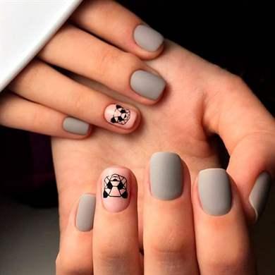 Гель лак на короткие ногти дизайн 2017 летние 5