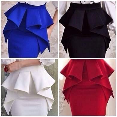 Оборка для старой юбки