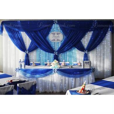 Свадьба синий интерьер