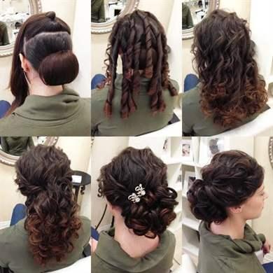 Простые вечерние причёски своими руками на средние волосы