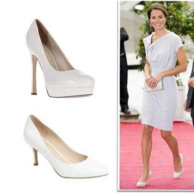 Туфли белые с платьями