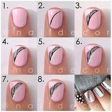 Простые дизайны ногтей гель лаком пошагово