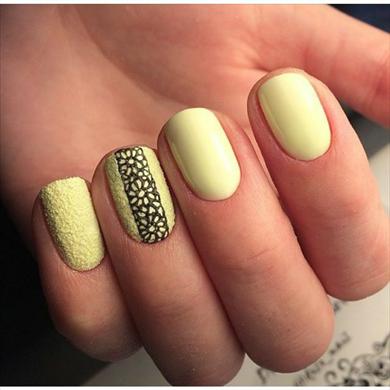 Ногти жёлтого цвета фото