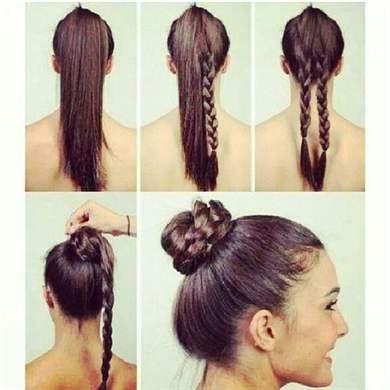 Как сделать своими руками бублик для волос 23