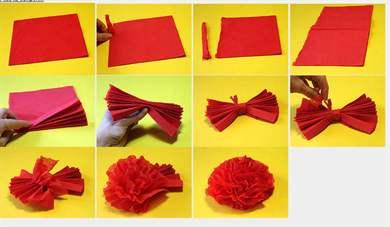 Как поэтапно сделать розу из салфетки поэтапно фото