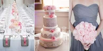 Свадьба в серо розовых тонах 90