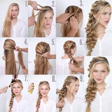 Как сделать красивую прическу с косой