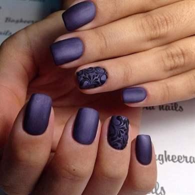 Рисунки на ногтях матовые