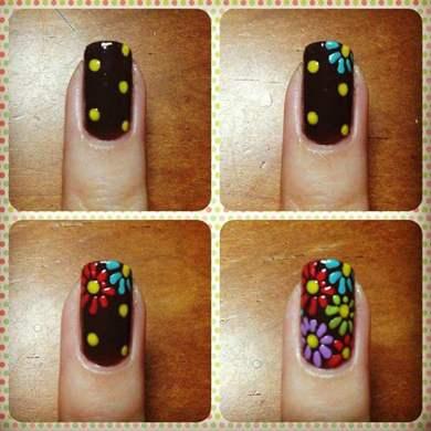 Простые дизайны ногтей пошагово