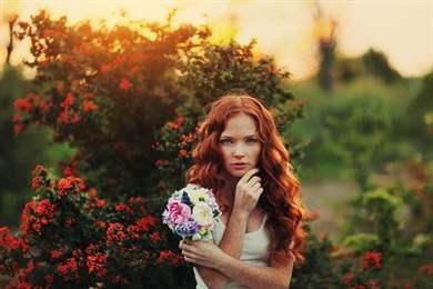 Пизды девушек рыжеволосая невеста фото