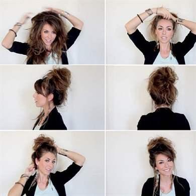 небрежные прически на средние волосы на каждый день