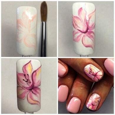 Фото дизайн цветов на ногтях