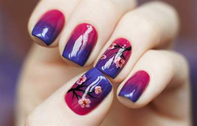 Ногти гель лак дизайн 2017 новинки весна сакура