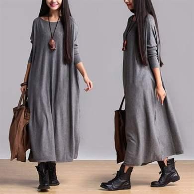 Платья балахоны из льна