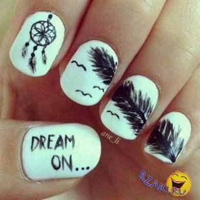Рисунки на ногтях ловец снов