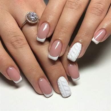 Фото ногтей дизайн вязка