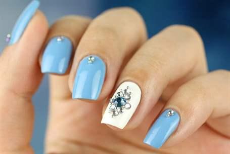 дизайн ногтей голубого цвета фото