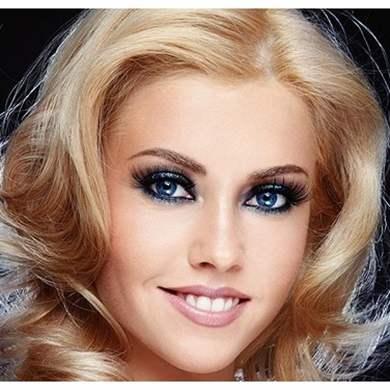 Вечерний макияж блондинок с голубыми глазами
