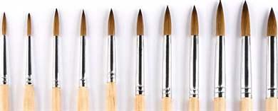 Тонкие кисти для рисования на ногтях