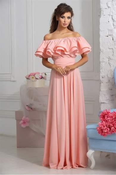 Вечерние розовые платья