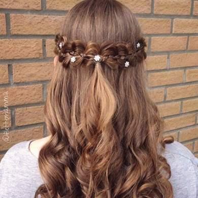 Прически для девочек распущенные волосы