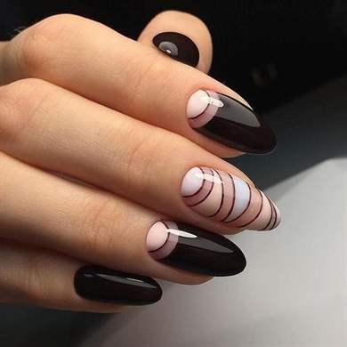 Оригинальные фото ногтей синего маникюра, фото идеи 40