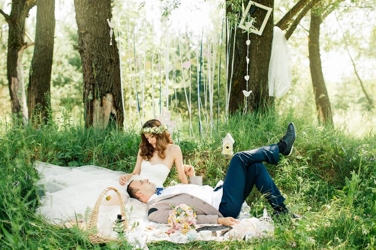 Свадьба фотосессия летом идеи фото