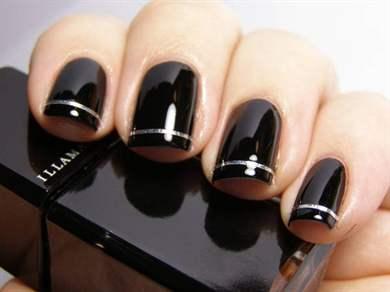 чёрный гель-лак дизайн фото