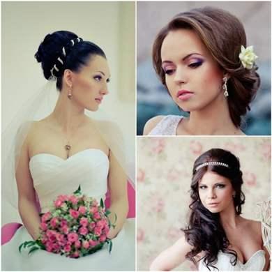 Свадебные причёски элегантные