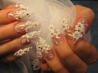 Лепка дизайн для ногтей