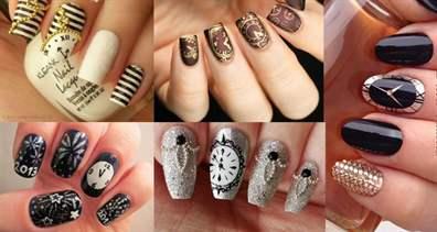 Фото дизайна ногтей с часами