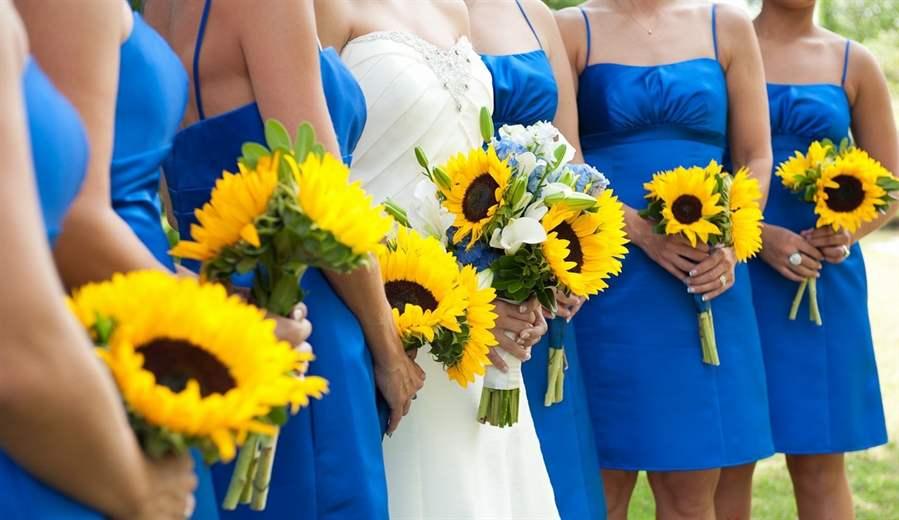 Сине-желтая свадьба