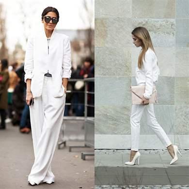 Белый брючный костюм женский купить