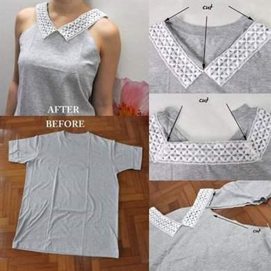 Как с старой футболки сделать новую