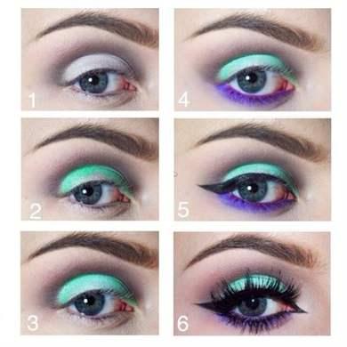 Вечерний макияж для голубых