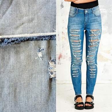 Рваные джинсы женские как сделать своими руками