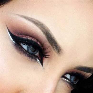 Восточный макияж со стрелками