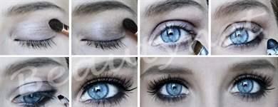 Макияж для серых глаз и русых волос пошаговая инструкция
