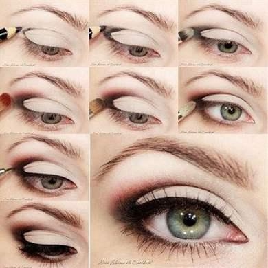 Как правильно сделать макияж глаз пошаговое фото
