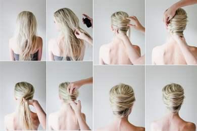 Как сделать прическу ракушку на средние волосы самой себе