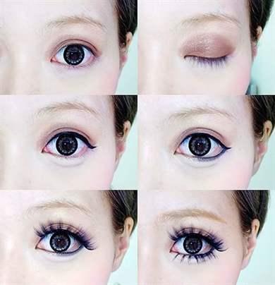 Как сделать глаза большими инструкция