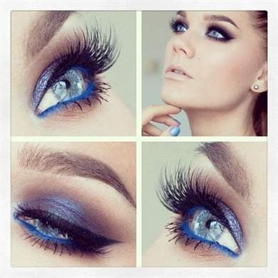 Makeup tutorials blue eyes