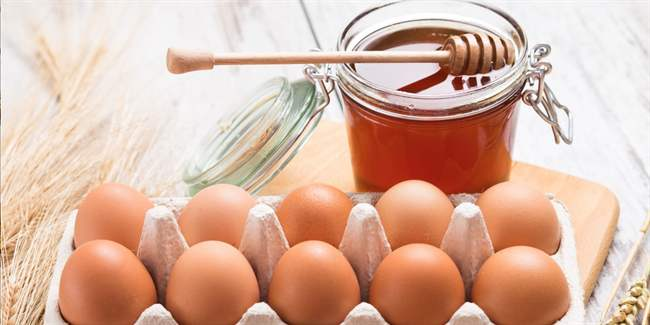 97Маска для лица яйцо мед сухой кожи